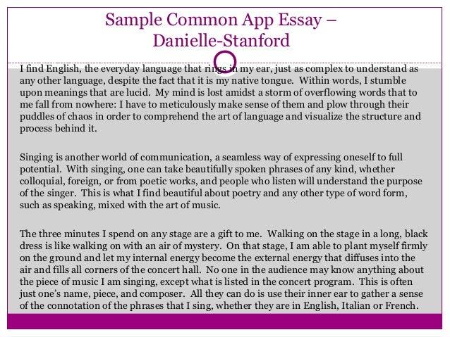 college essay examples common app