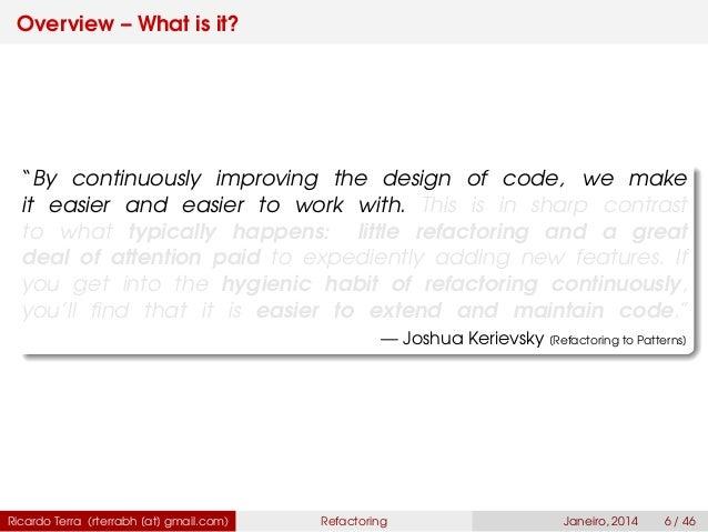 REFACTORING TO PATTERNS BY JOSHUA KERIEVSKY PDF DOWNLOAD