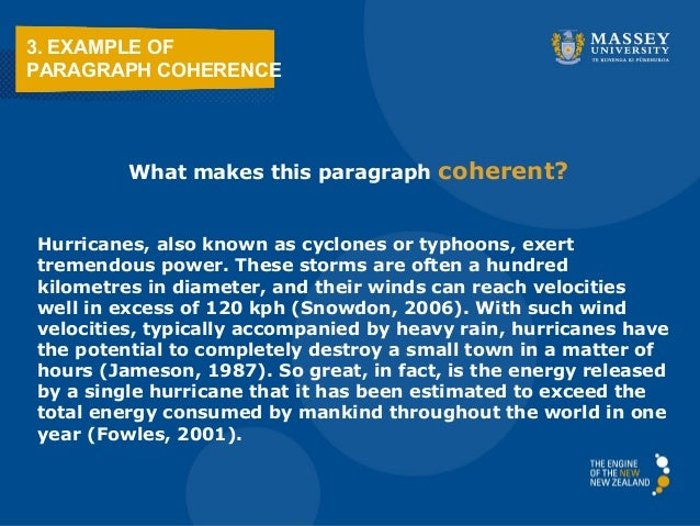 Coherent paragraph examples
