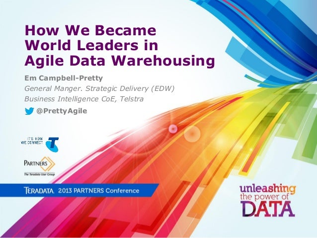How We Became World Leaders in Agile Data Warehousing Em Campbell-Pretty General Manger. Strategic Delivery (EDW) Business...