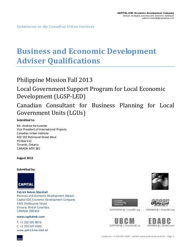 CAPITAL EDC Economic Development Company analyst, strategist, business and economic developer patrick.marshall@capitaledc....