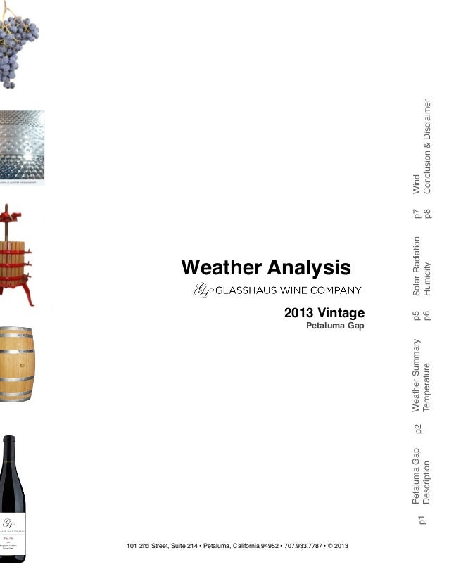 101 2nd Street, Suite 214 • Petaluma, California 94952 • 707.933.7787 • © 2013 PetalumaGap Description Weather Analysis 20...
