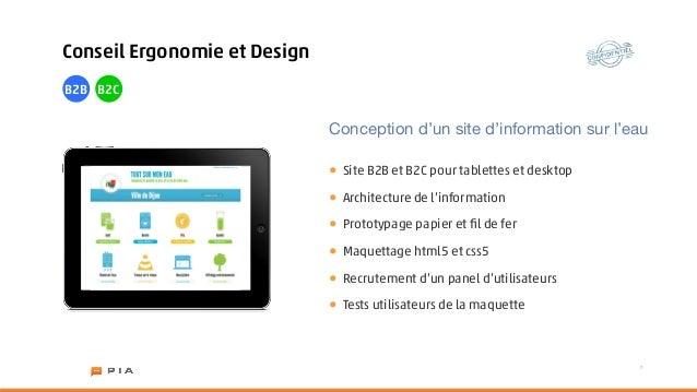 Conseil Ergonomie et DesignB2B B2C                              Conception d'un site d'information sur l'eau              ...