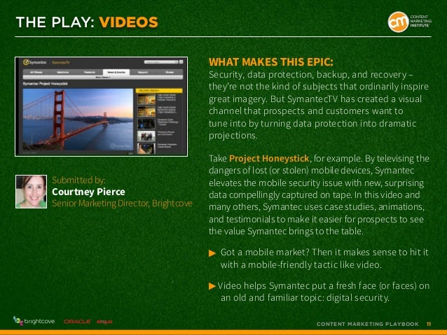 THE PLAY: VIDEOS What makes this epic:  Security, data protection, backup, and recovery – they're not the kind of subjects...
