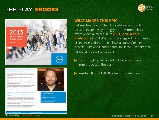 THE PLAY: EBOOKS What makes this epic:  Dell reaches beyond the PC to address a topic its customers are always hungry to k...