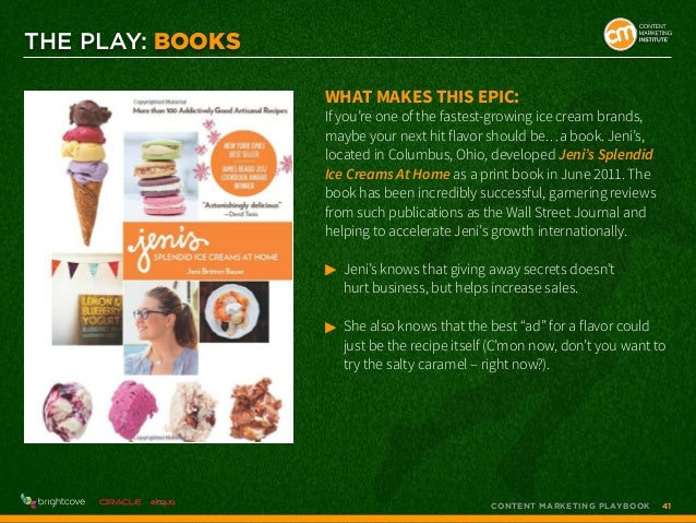THE PLAY: BOOKS What makes this epic:  If you're one of the fastest-growing ice cream brands, maybe your next hit flavor s...