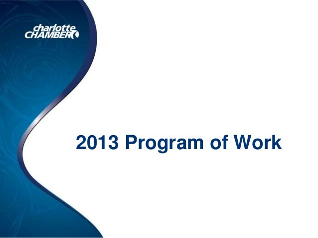 2013 Program of Work