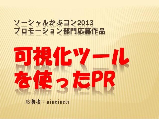ソーシャルかぶコン2013 プロモーション部門応募作品  可視化ツール を使ったPR 応募者:pingineer
