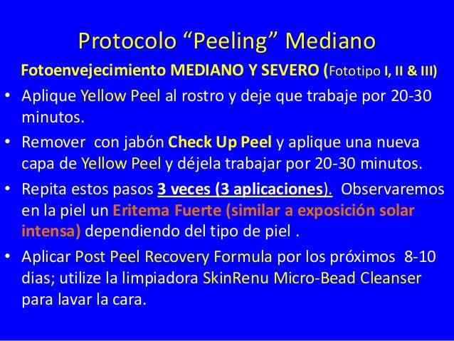 Tratamiento Profesional Fototipos I, II & III Envejecimiento  Arrugas Superficiales  Inicial Yellow Peel 1-4 Tratamientos ...