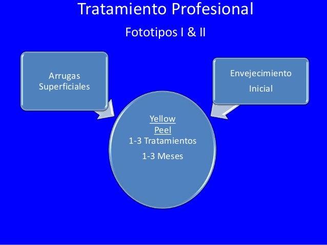 Tratamiento Profesional Fototipos I & II  Arrugas  Envejecimiento Mediano  Medianas  Yellow Peel 3-6 Tratamientos 3-6 Mese...