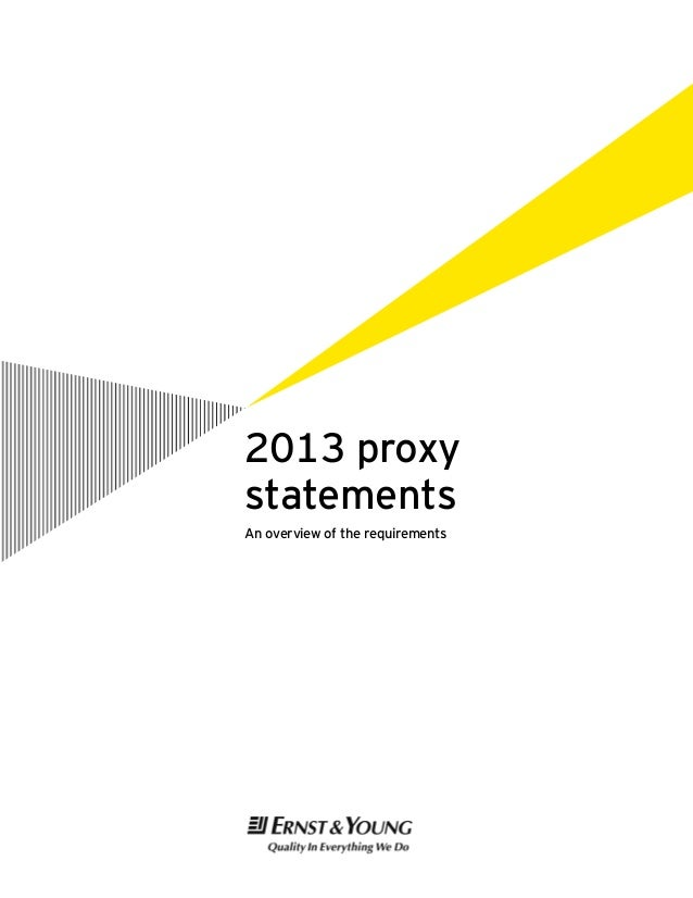 2013 proxy statements An overview of the requirements