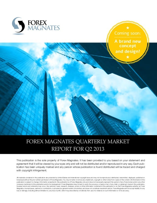 Forex magnates quarterly industry report