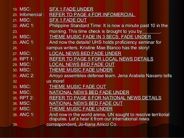 Radio broadcast infomercial example. Docx | mindanao | philippines.