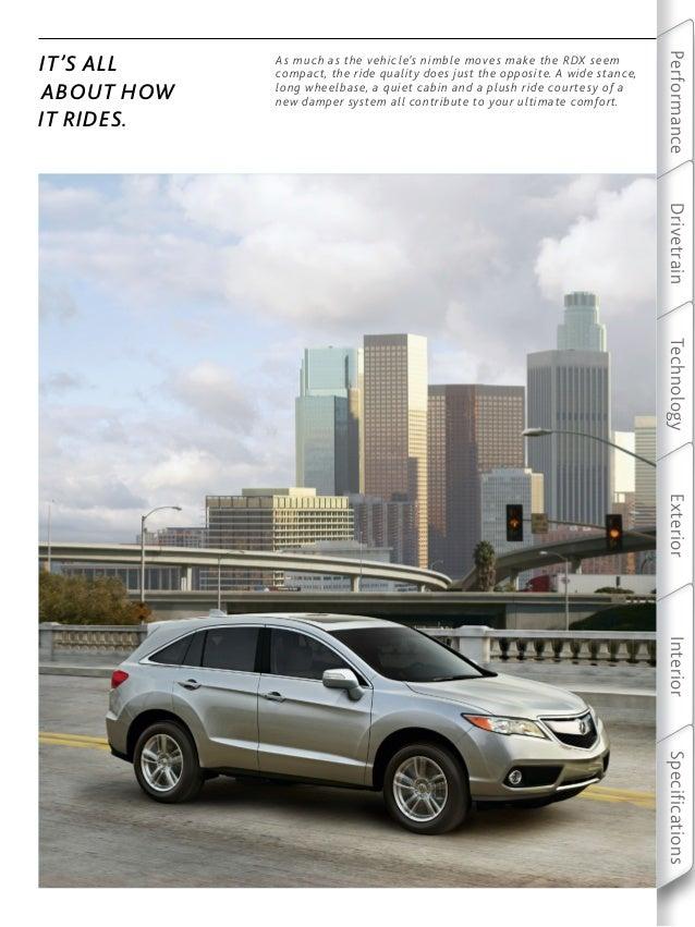 2013 RDX Brochure | DCH Acura of Temecula