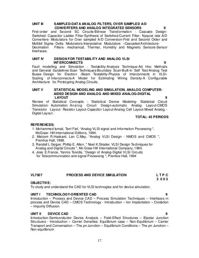 2013 regulation syllabus for m e vlsi design rh slideshare net