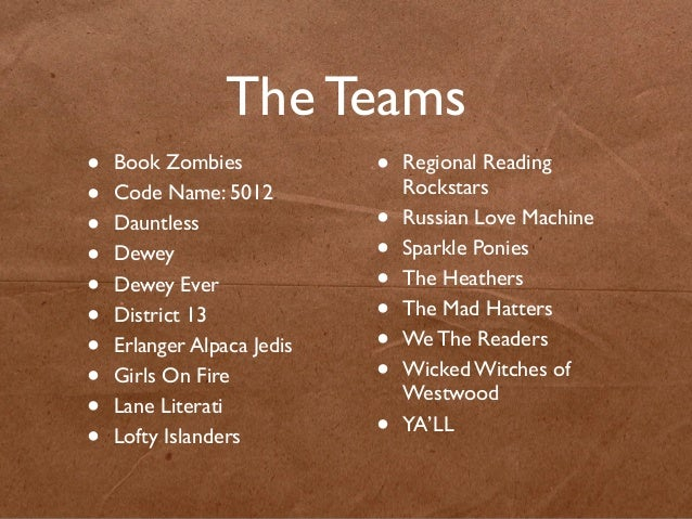 The Results From The 2013 Teen Reading Challenge