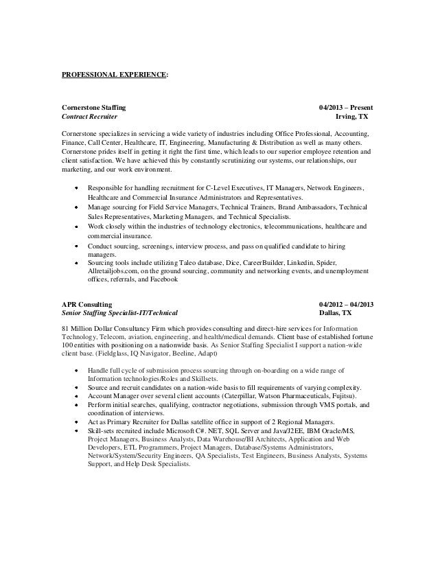 Admissions Recruiter Resume Samples Recruiter Resume Samples
