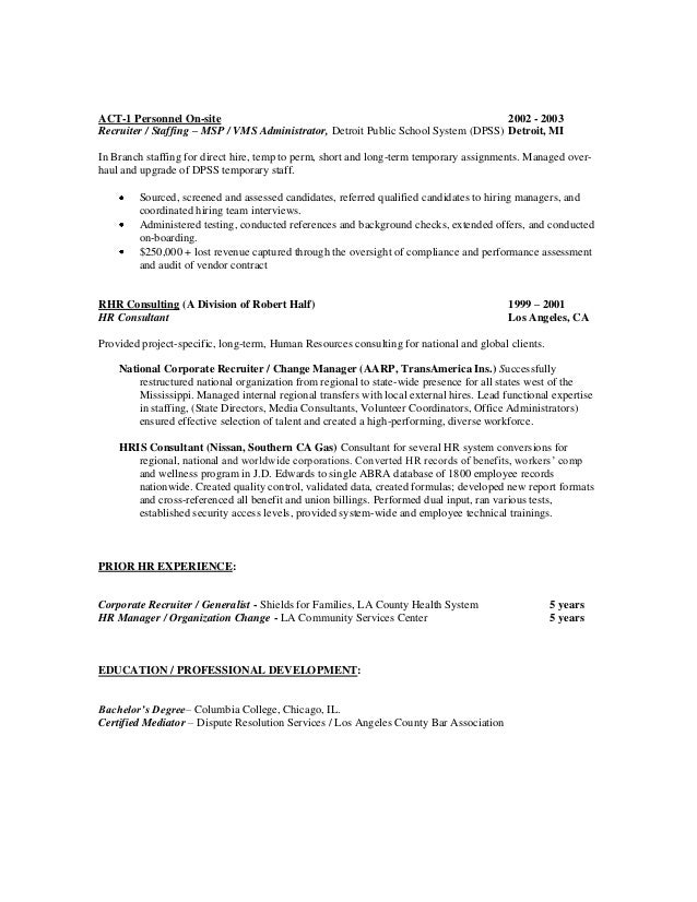 Resume of Lamond Ayers