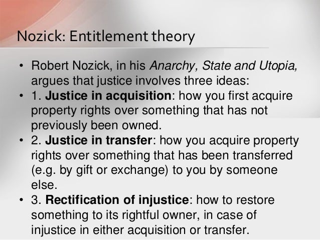 Nozick's View on Theory of Justice