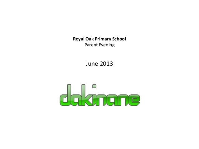 Royal Oak Primary SchoolParent EveningJune 2013