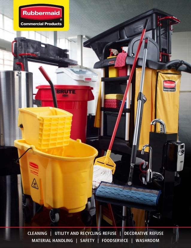 CLEANING | UTILITY AND RECYCLING REFUSE | DECORATIVE REFUSE                        MATERIAL HANDLING | SAFETY | FOODSERVIC...