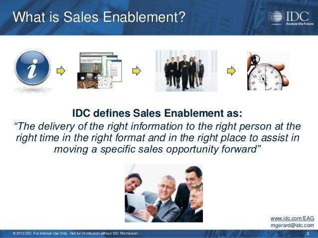 2013 Sales Enablement Strategy - For Marketing & Sales Slide 3