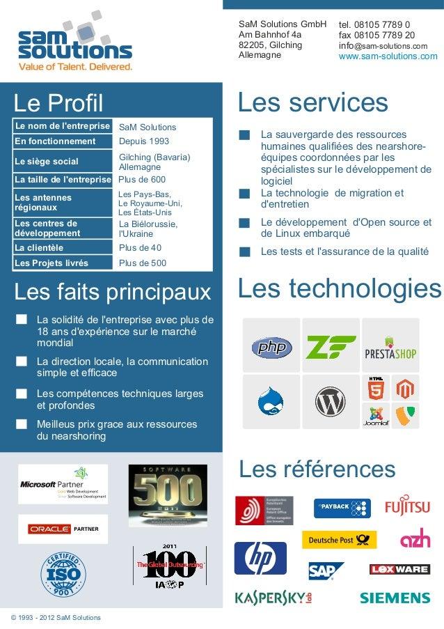 SaM Solutions GmbH   tel. 08105 7789 0                                                  Am Bahnhof 4a        fax 08105 778...
