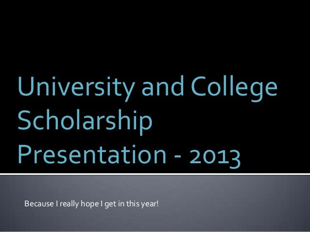 Grade 12 Scholarship Information - 2013