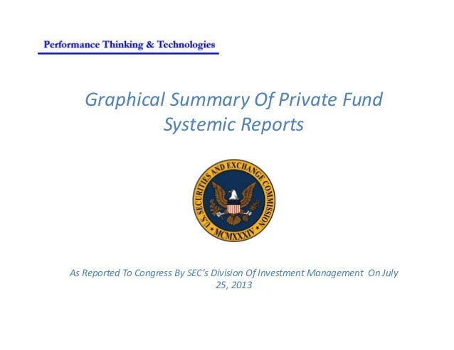 Graphical Summary Of Private Fund Systemic Reports As Reported To Congress By SEC's Division Of Investment Management On J...