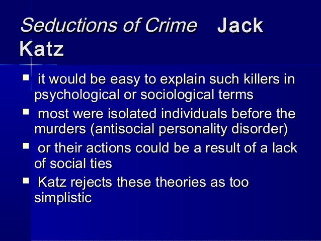 arso and seductions theory of crime Posts about ditlieb written by ditliebradio all these manipulated selections and seductions are chosen by zionists and domino doctrine or domino theory.