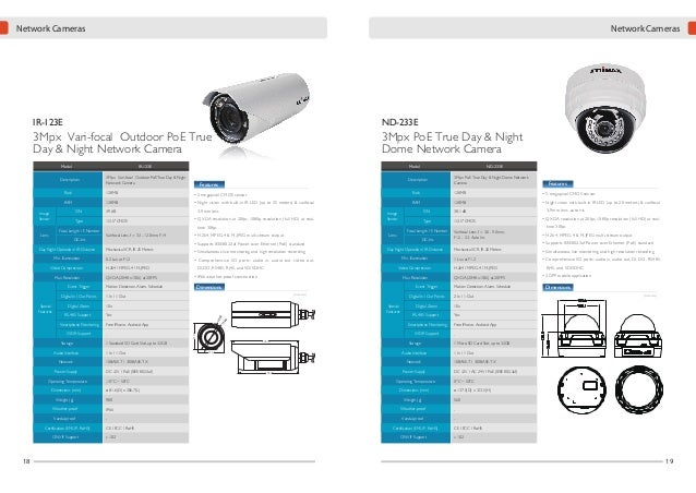 Network Cameras  VD-233ED  Network Cameras  PT-31E  Coming Soon  3Mpx PoE True Day & Night WDR Vandal Dome Network Camera ...
