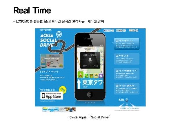 "Real Time- LOSOMO를 활용한 온/오프라인 실시간 고객커뮤니케이션 강화                     Toyota Aqua ""Social Drive"""