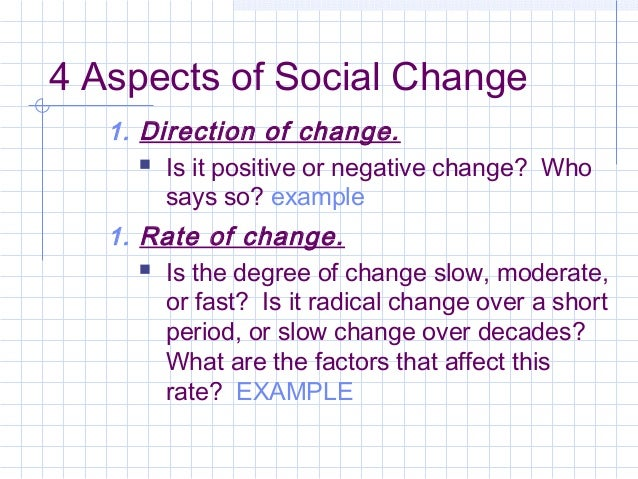 Social & cultural change ppt video online download.