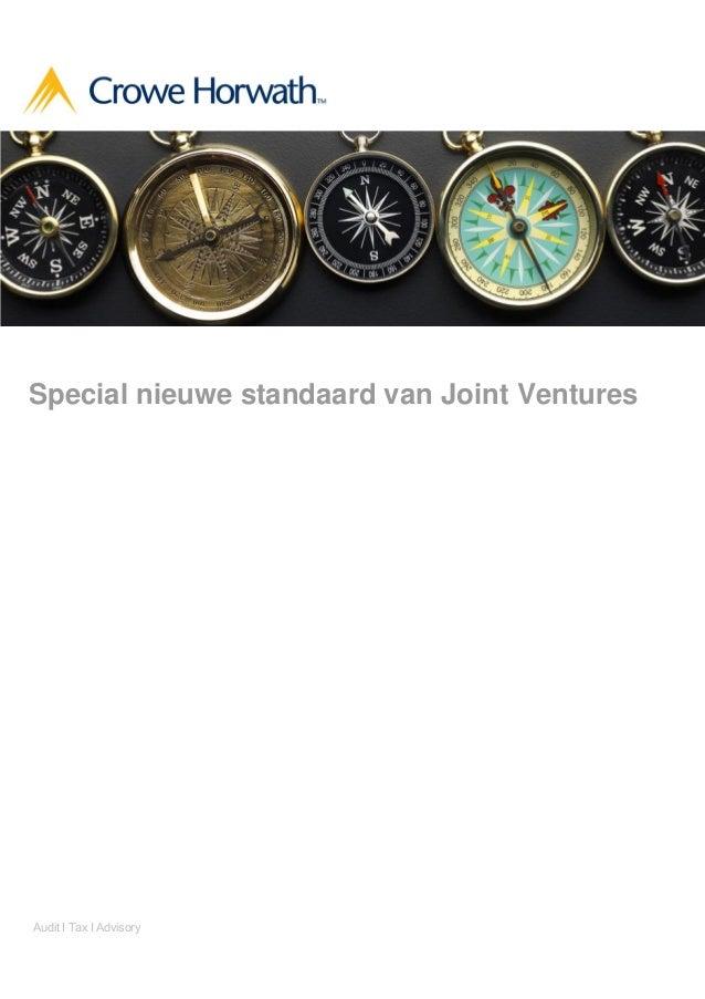 Special nieuwe standaard van Joint Ventures  Audit І Tax І Advisory
