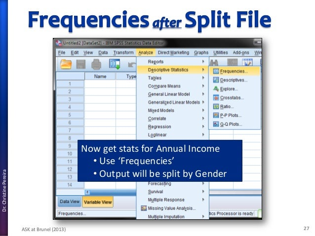 spss for beginners Spss step-by-step tutorial: part 2 for spss version 115 spss provides extensive assistance through its online help, tutorial, syntax guide, and statistics coach.