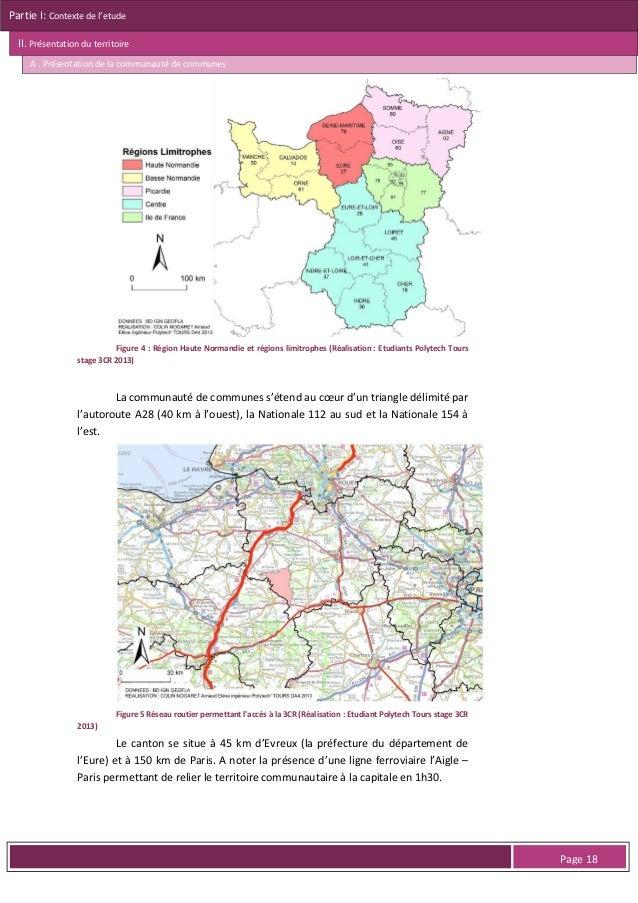 Partie I: Contexte de l'etude II. Présentation du territoire A . Présentation de la communauté de communes  Figure 9 : Exe...