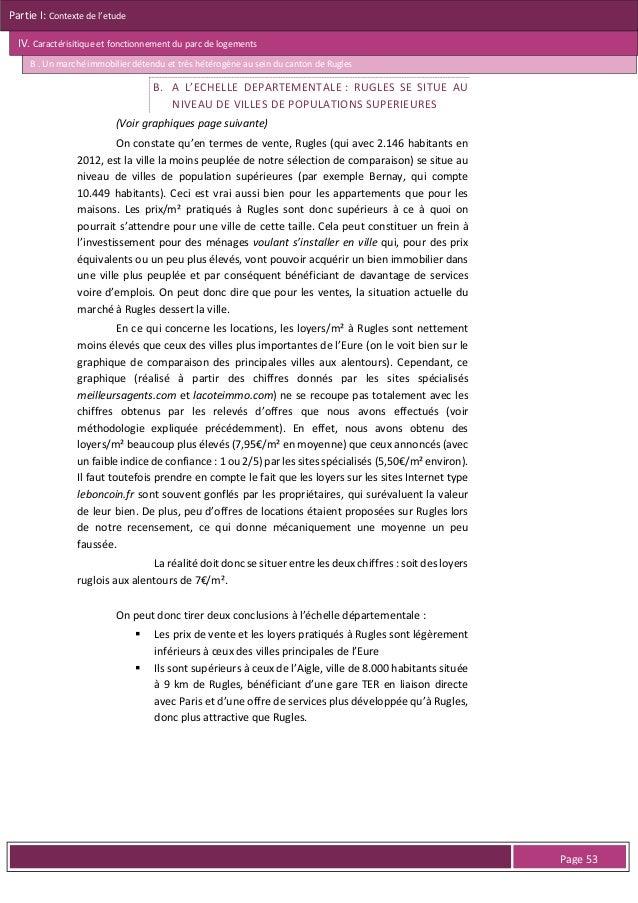 Partie I: Contexte de l'etude IV. Caractérisitique et fonctionnement du parc de logements B . Un marché immobilier détendu...