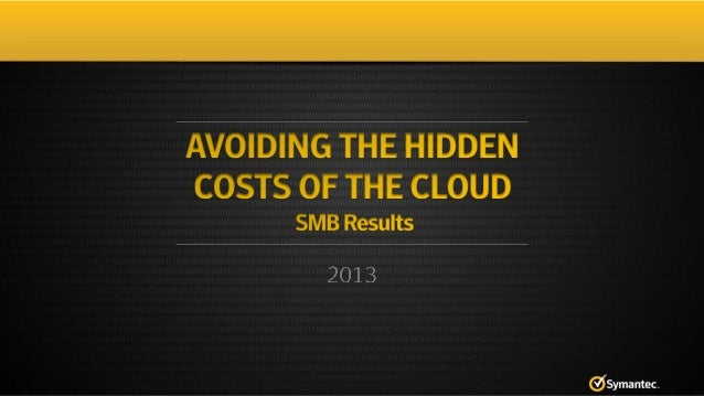 2013 State of Cloud Survey SMB Results