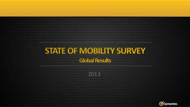 2013 State of Mobility Survey