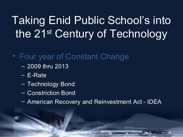 Enid Public Schools State of Technology Address Slide 2
