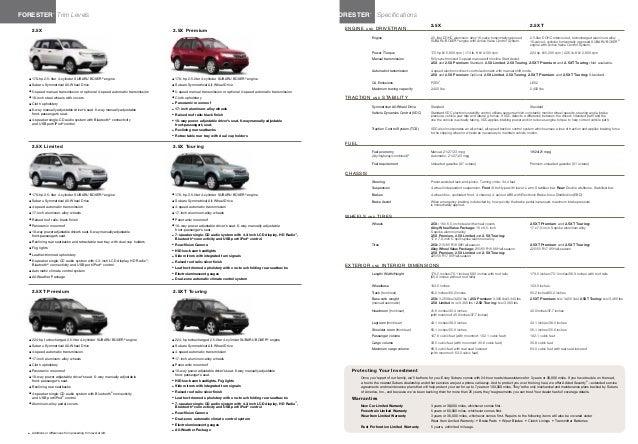 2013 Subaru Forester Brochure Tennessee Subaru Dealer
