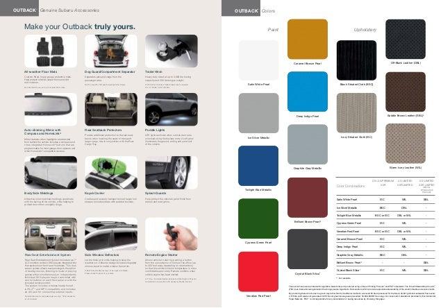 2013 Subaru Outback Brochure Tennessee Subaru Dealer