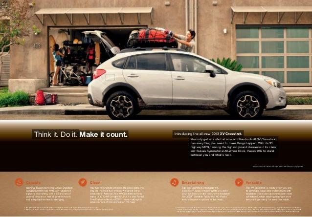 2013 Subaru XV Crosstrek Brochure   Tennessee Subaru Dealer