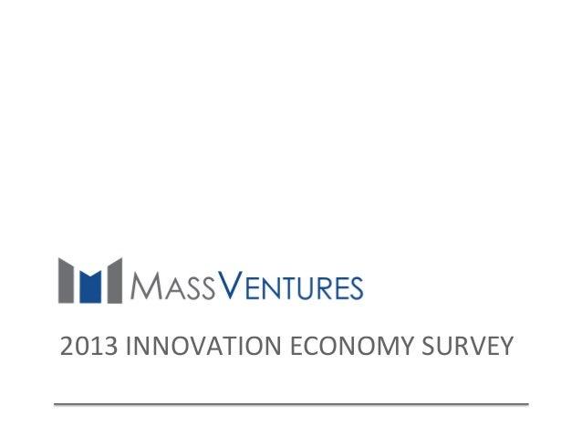 2013  INNOVATION  ECONOMY  SURVEY