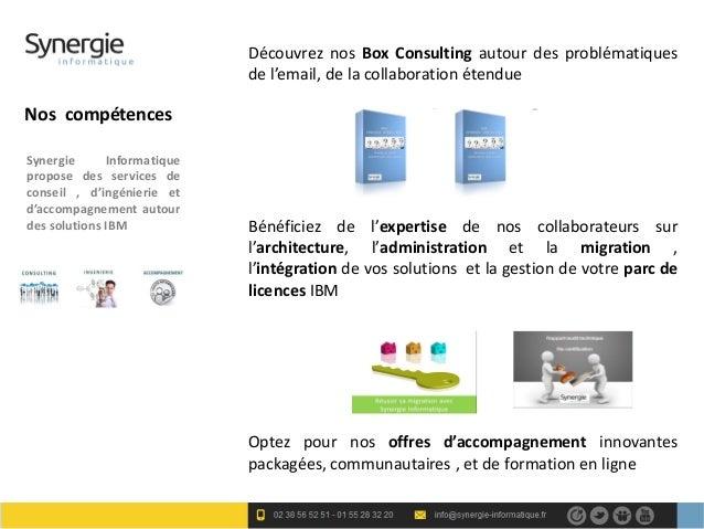 Découvrez nos Box Consulting autour des problématiques                             de l'email, de la collaboration étendue...