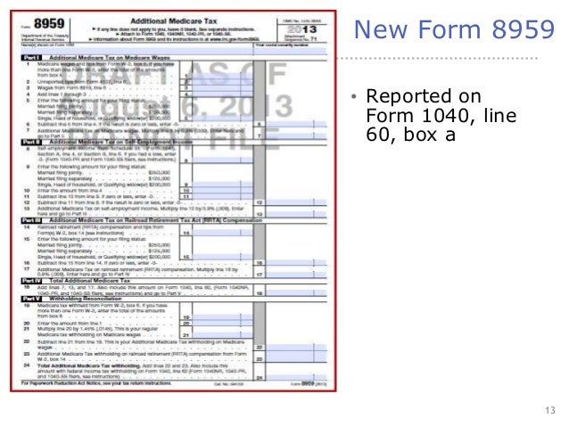 Form 8959 Additional Medicare Tax