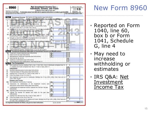 Important Tax Law Changes for TY13