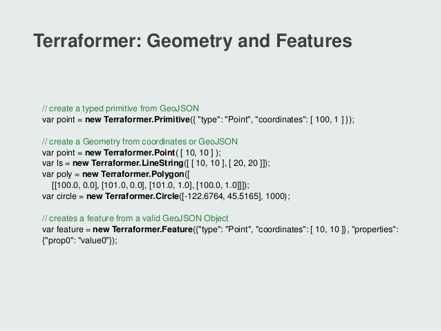 Rule Your Geometry with the Terraformer Toolkit