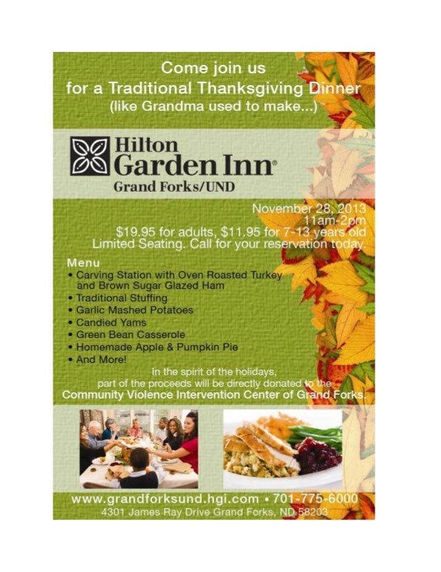Hilton Garden Inn Grand Forks / UND Thanksgiving Ad
