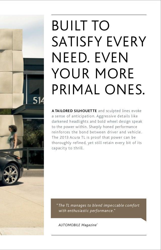2013 Tl Brochure Dch Acura Of Temecula
